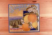 "Citrus label ""Sunset"" brand. - Corona Citrus Association - Corona, California..."