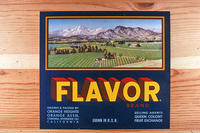 "Citrus label ""Flavor"" brand - Orange Heights Orange Assn. - Corona"