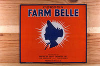"Citrus label ""Corona Farm Belle"" brand - American Fruit Growers, Inc.  - Los..."