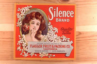 "Citrus label ""Silence"" brand.  Flagler Fruit and Packing Company - Los Angeles..."
