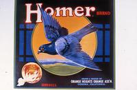 "Citrus label ""Homer"" brand - Sunkist - Orange Heights Orange Ass'n. - Corona..."