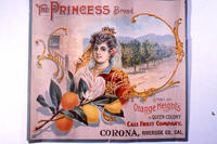 "Citrus label ""The Princess"" brand. - Call Fruit Company - Orange Heights - Corona,..."