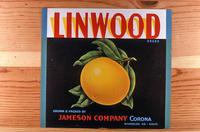 "Citrus label ""Linwood"" brand - Jameson Company - Corona"
