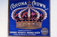 "Citrus label ""Corona Crown"" brand - Sunkist - Orange Heights Orange Ass'n. -..."