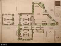 1991 - Architectural Rendering - Site Plan - Corona Public Library