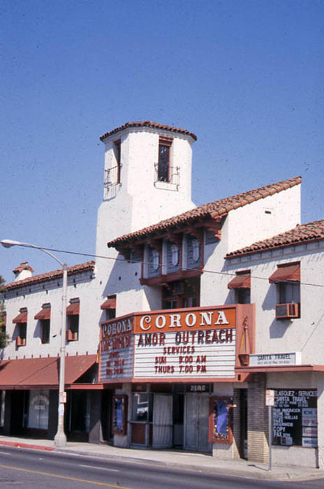 This slide is of the Corona Theater. - SLIDE CONDITION:  Good