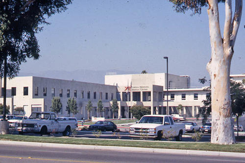 This slide is of the Corona Regional Medical Center, formerly called Corona Community Hospital. - SLIDE CONDITION:  Good