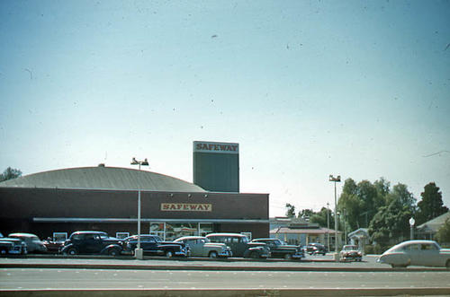 This slide is of the Safeway Market.  c. 1940-1950. - SLIDE CONDITION:  Good