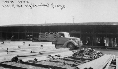 Corona Lumber Co. in November 1942, the year of the lumber freeze due to World War II.
