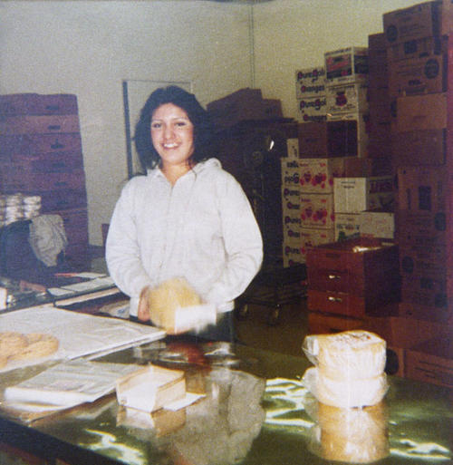 Elizabeth Navarro at Don Leon's Tortilla Store.