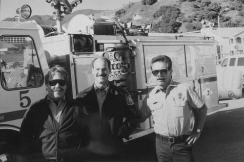 Richard Hernandez and his colleagues of the Corona Fire Department.