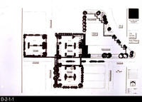 Corona Public Library, Site Plan Blueprint  - Main Site Plan