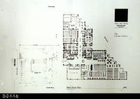 Corona Public Library, Site Plan Blueprint - Main Floor Plan