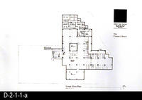 Corona Public Library, Site Plan Blueprint - Lower Floor Plan