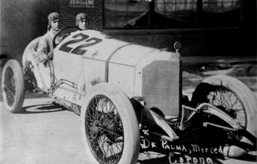 Fourth place winner prize of $1000.00.  In 1913 De Palma drove a #5 Mercer.