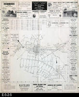 1954 - Street Map - Corona, Norco, and Home Gardens