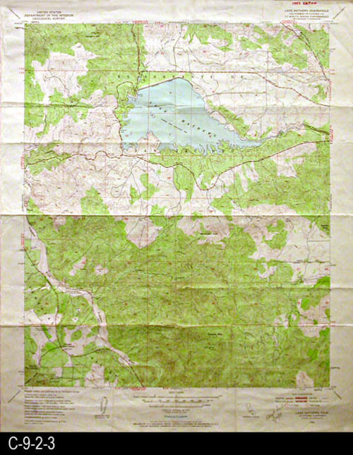 This topographic map is published by the U. S. Geographical Survey.  It is used by the Metropolitan Water District of Southern California. CONDITION:  Very good, but does show normal wear and tear - COPIES:  1 - MAP ORIENTATION: Top is North.