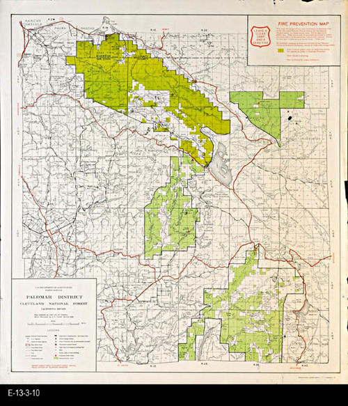 Map - 1958 - Fire Prevention Map - Palomar District, Cleveland ...