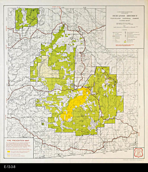 Map - 1958 - Fire Prevention Map - Descanso District, Cleveland ...