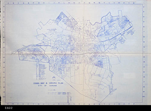 "This is a detailed map with legend for zoning areas. It is for Ordinance 1005.  This maps has been revised numerous time.  Check library holdings for other revisions. - MEASUREMENTS:  42 1/2"" x 59 1/2"" - CONDITION: These maps are in good condition.  - COPIES:  3."