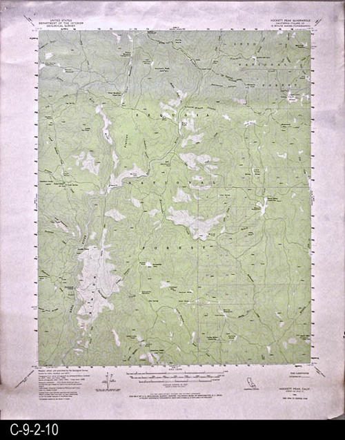 "This map is published by the U. S. Geographical Survey.  MEASUREMENTS:  21 3/4"" x 18"" - CONDITION:  Very good.  There are a few damaged areas in the white margin area of the map appearing as dark borwn areas.  - COPIES:  1 - MAP ORIENTATION: Top is North."