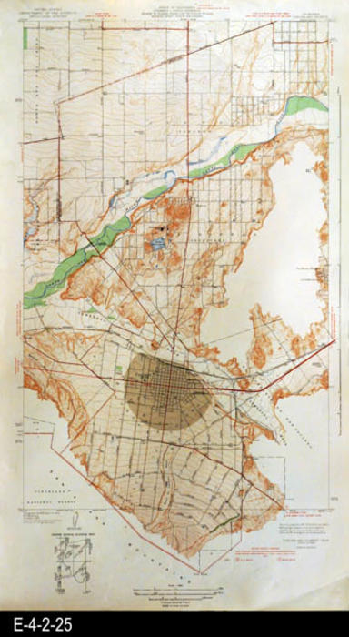 "This map is of Corona and Vicinity, CA and was published by the U. S. Department of the Interior, Geological Survey. MEASUREMENTS: 29"" X 16 1/2"", CONDITION: Good, COPIES:  1."