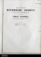1922 - Map of Riverside County - Part 1 of 5