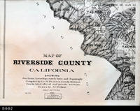 1910 - Map of Riverside County - Bottom Part