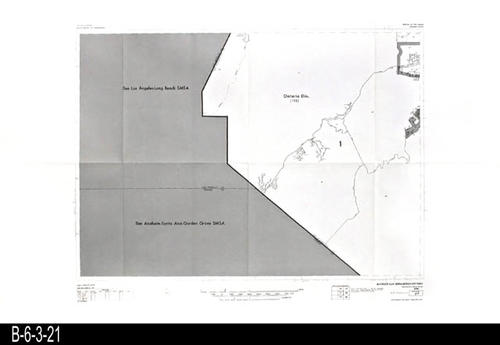 "This map covers Block No. 21 - Partial for: Ontario Div.  Carbon Canyon is a road that ends in Orange County. -  MEASUREMENTS:  22"" x 34"" - CONDITION:  Very Good - COPIES:  1."