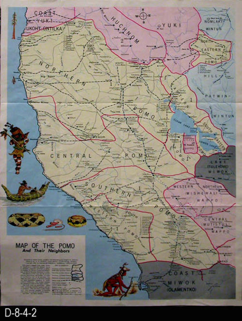 Map - 1969 - Map of the Pomo (Indians) and Their Neighbors | Corona California Indian S Map on