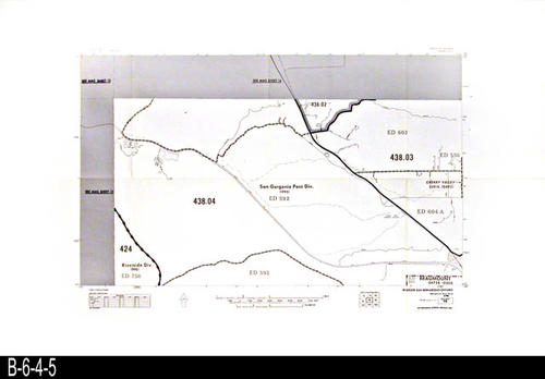 "This map covers Block No. 98 - Partial for:  San Gorgonio Pass Div., Riverside Div.,  Cherry Valley, Beaumont (The following spelling appears on some of the maps:  Beaumount) - MEASUREMENTS:  22"" x 34"" - CONDITION:  Very Good - COPIES:  1."