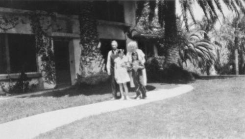 Frank and Lucretia Stearns, the parents of Francis A. Stearns, with grandchildren, Frances Ann and Marilyn.  Photo taken in 1930.