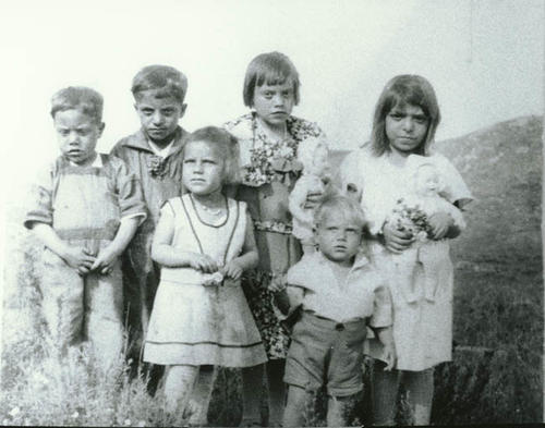 Salgado children, (left to right): Arturo, Eduardo, Eloisa, Juanita, Rose, Jose.