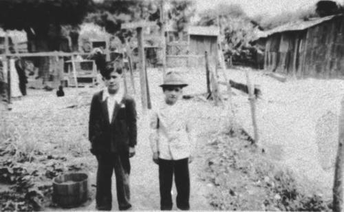 Right and side: Louis Alaniz, 6 years old, with another unidentified boy.