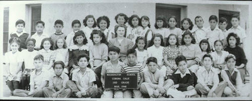 Class group photo of Washington School third (3rd) grade class.