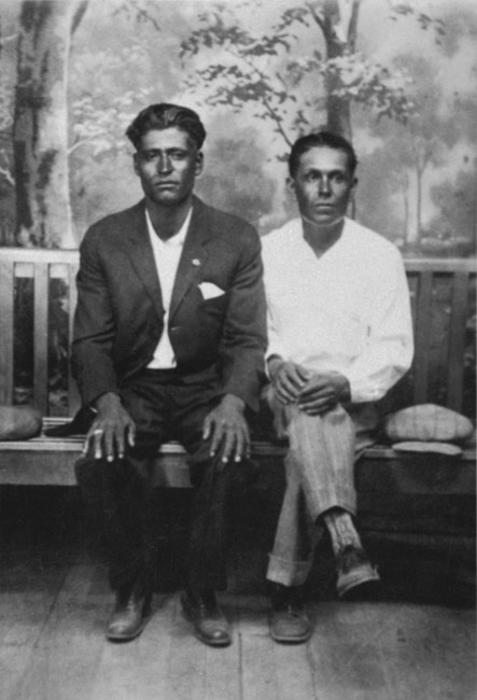 Francisco G. Felipe on left. Francisco is the father of Rudy Felipe.