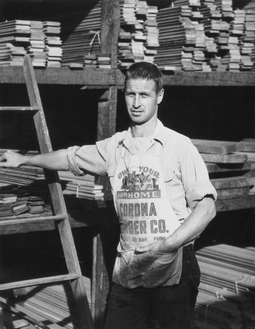 Terry at Corona Lumber Co., located at 4th and Main Streets.