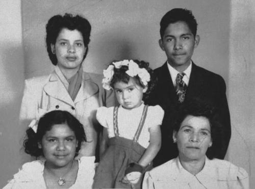 Margaret, John, and Mary Ann Zarate with their mother, Marihilda, and her niece Molly Rojo.