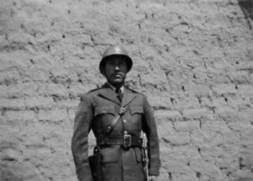 Nacho in the Mexican Army.