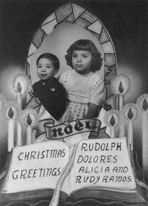Christmas Card photo of Rudy and Alicia Ramos.
