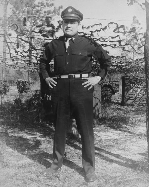 Victor Delvillar in military uniform.