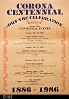 Poster - Corona Centennial - Centennial Events