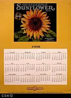 Poster - 1998 - Calendar - Orangedale Sunflower Brand