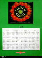Poster - 1999 Calendar - Golder Circle Brand Fruit Label Picture