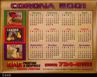 Poster - 2001 Calendar - Queen Bee, Leader, and O.I.C.Fruit Brand Labels