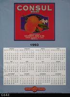Poster - 1993 Calendar - Consul Brand Fruit Label Picture