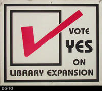Poster - Vote Yes on Library Expansion