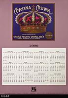 Poster - 2000 Calendar - Crown Corona Fruit Brand Label