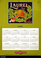 Poster - 1995 Calendar - Laurel Brand Fruit Label Picture