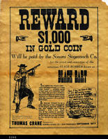 Poster - 1877 (Reproduction) - Wanted poster for Black Bart